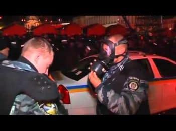 Беркут розганяє активістів київського Євромайдану. by Reuters