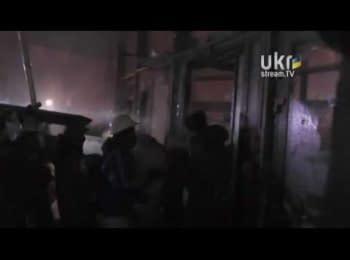 Активісти звільняють Українській Дім 26.01.14 / Activists freed Ukrainian House from special unit. 26 january 2014