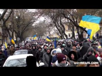 "5000 одеситів влаштували марш і скандували ""Зека - геть!"" /5000 Odessa residents staged a march and chanted ""Prisoner - go out!"""