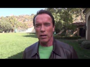 Шварценеггер передає послання Українському народу / Schwarzenegger sends a message to the Ukrainian people
