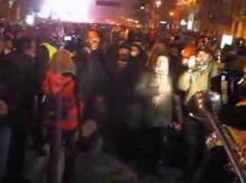 Трубач заграв гімн на вул.Грушевського