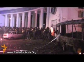 Мітингувальники відбили атаку «Беркуту»