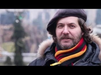 Учасники #ЄвроМайдан'у співають та вітають з Різдвом!