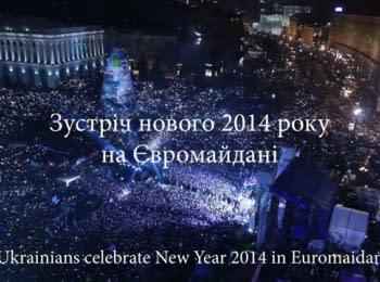 Зустріч нового 2014 року на Євромайдані / Ukrainians celebrate New Year 2014 in Euromaidan