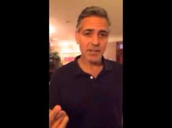 Джордж Клуні на підтримку Українських демонстрантів / George Clooney supports Ukranian demonstrators