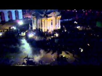 Беркут проти Євромайдану. загальний план