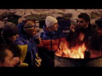 «Горіла бочка» - новий народний супер-хіт Майдану / «Burning barrel» - is a new popular song on Maydan