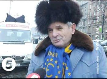Євромайдан. Чоловік і Путін / Euromaydan. Man and Putin