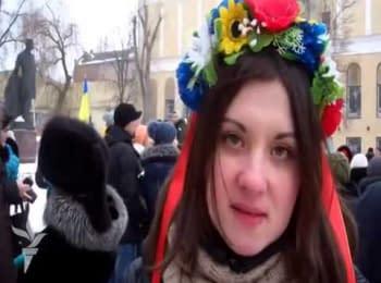 Жінки з каструлями пікетували Дніпропетровську ОДА / Women with the pots picketed Dnipropetrovsk regional administration