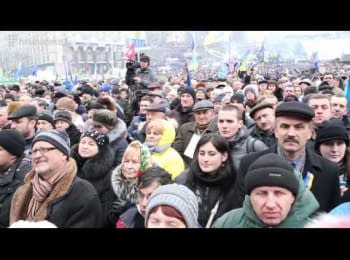 Ювілейне 10-те віче на Євромайдані. Без купюр / 10th veche on the Euromaydan. Uncensored
