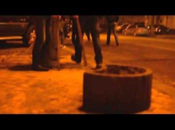 """""""Тітушкі"""" стріляли в групу мітингувальників / «Titushky» were shooting at a group of protesters"""