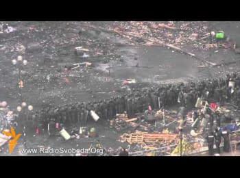 Дим над Майданом у Києві / Smoke over the Maydan in Kyiv