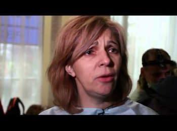 """Лікар Ольга Богомолець: """"У нас 13 загиблих від куль снайперів"""" (англійською)"""