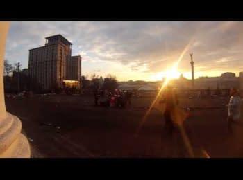 Постріл снайпера у неозброєну людину біля Жовтневого палацу