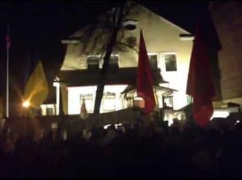 Шествие к генеральному консульству России в Харькове