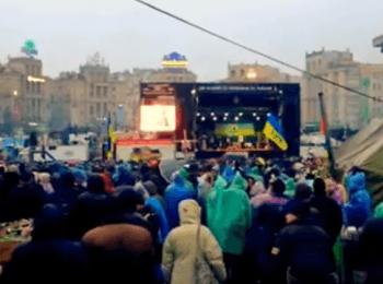 Майдан дивиться голосування у Верховній Раді за позбавлення Януковича повноважень