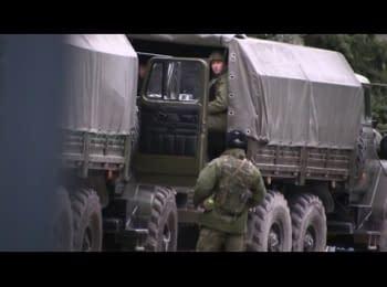 Российские военные приехали в Ялту