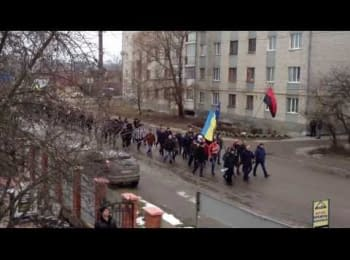 People of Berdichev are going on Maidan (February 19, 2014)