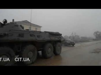 Russian APCs are at Simferopol suburb
