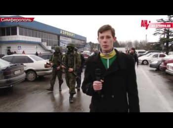 Невідомі військові блокують аеропорти в Криму