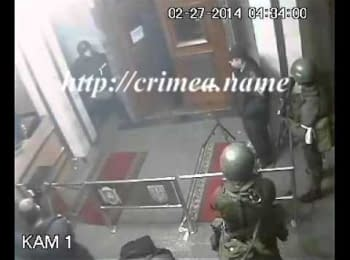 Russian military taking over the building of Crimean Government (February 27, 2014)