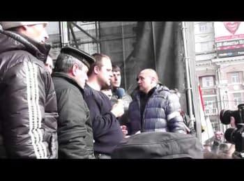 Безлад на мітингу в Донецьку (01.03.2014)