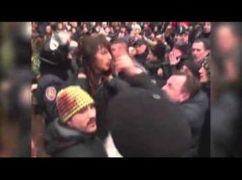 Pro-Russian demonstrations in Kharkiv, Ukraine