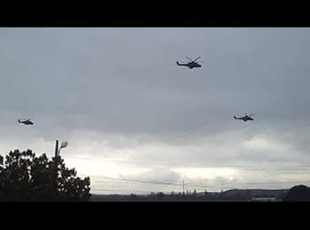 Russian helicopters in Crimea