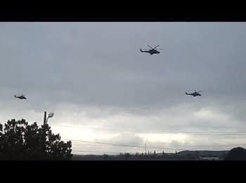 Российские вертолеты в Крыму