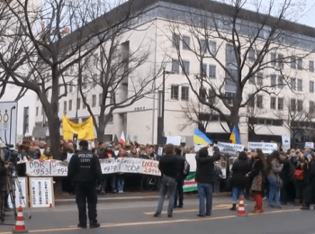 Protest in Berlin against Russian aggression in Ukraine (March 2, 2014)
