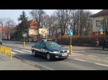Polish armored vehicles are moving on east. Columns of armored vehicles were seen all over the country