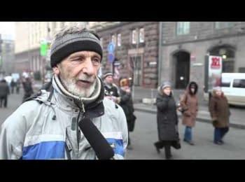 Radicals of Maidan speak about Crimea and russian laguage