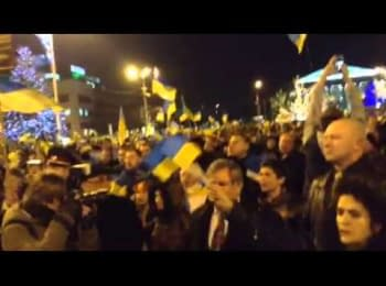 In Donetsk sing the Ukrainian national anthem