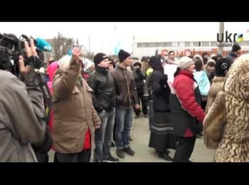 Crimea: demonstration in support of Ukrainian unity