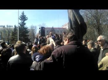The demonstration in Lugansk, March 22, 2014