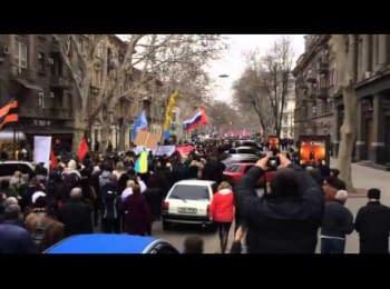 Проросійський мітинг і марш в Одесі, 23.03.2014