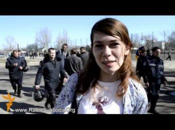 У Луганську мітингували за єдність України, 23.03.2014