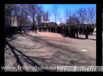 Після штурму. Військова частина А-1100 в Новофедорівці, 22.03.2014