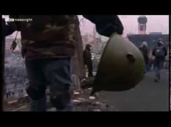 Under sniper fire - the footage from Kiev