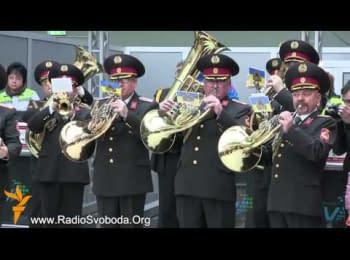 У аеропорту «Жуляни» 180 музикантів зіграли гімн ЄС