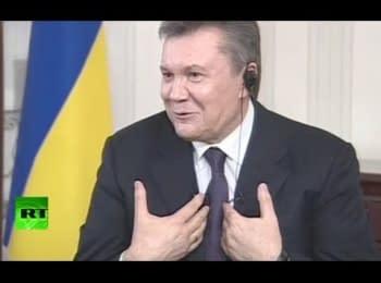 Янукович рассказал о своей коллекции раритетных автомобилей и о золотом батоне