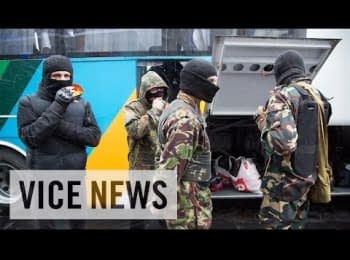 The Right Sector was forced to vacate the Dnipro Hotel without their weapons and move to a base outside Kiev