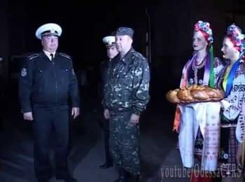 Військова академія Одеси зустріла курсантів з Севастополя, 05.04.2014