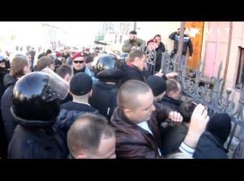 Провокації в центрі Харкова, 06.04.14 (18+ нецензурна лексика)