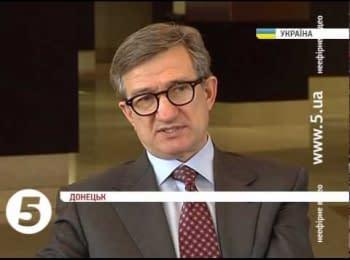 Донецкий губернатор говорит, что не будет применять силу против митингующих
