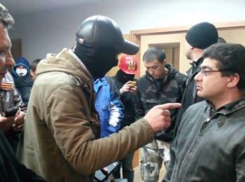 Проросійські активісти влаштували погром в телеагенції АТН - Харків, 07.04.2014