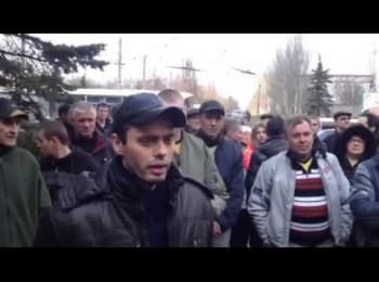 The inhabitant of Gorlovka on pro-Russian rally appealed to Moscow invaders: what are you doing?