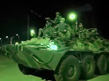 """""""Green humanoids"""" uploaded a video about how they  assaulted and captured Crimea"""