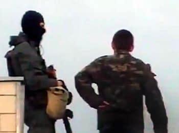 Краматорськ, 21.04.2014. Снайпери на даху Міськвиконкому