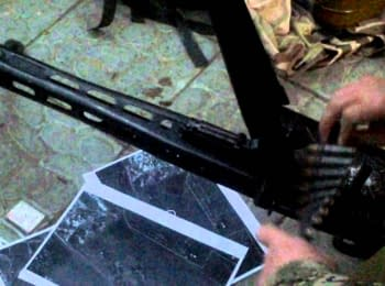 The weapon and things that allegedly belonged to the attackers on checkpoint in Slovyans'k, on April 20, 2014
